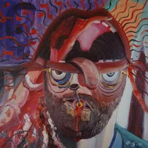 Schizophrenic Self Portrait, 18 May 1991, by Bryan Charnley