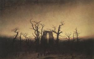 The Abbey in the Oakwood by Caspar David Friedrich