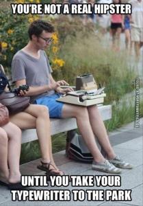 Hipster Typewriter